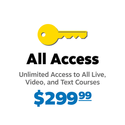 All Access, Unlimited Live and Online CE Courses for $299.99!