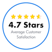 4.7 Stars Average Customer Satisfaction
