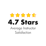 4.7/5 Stars, average instructor satisfaction